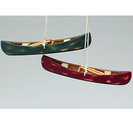 Canoe Ornaments - Pair C0596